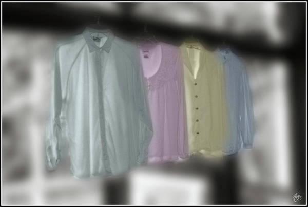 Photograph - Painted Shirts by Wayne King