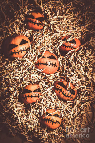 Wall Art - Photograph - painted tangerines for Halloween by Jorgo Photography - Wall Art Gallery