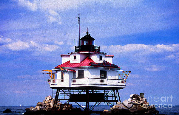 Wall Art - Photograph - Painted Thomas Point Lighthouse by Skip Willits