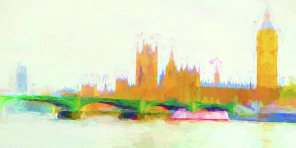 Wall Art - Digital Art - Painted Westminster by Sharon Lisa Clarke