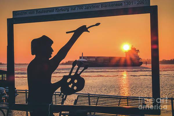 Photograph - Painter At Sunset by Marina Usmanskaya