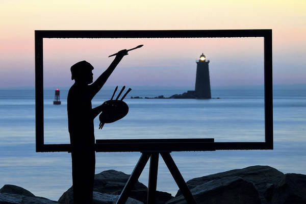 Wall Art - Photograph - Painter On The Nh Seacoast by Eric Gendron