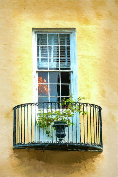 Photograph - Painterly Window And Balcony by Gary Slawsky