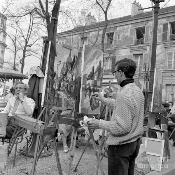 Plein Air Photograph - Painters In Montmartre, Paris, 1977 by French School