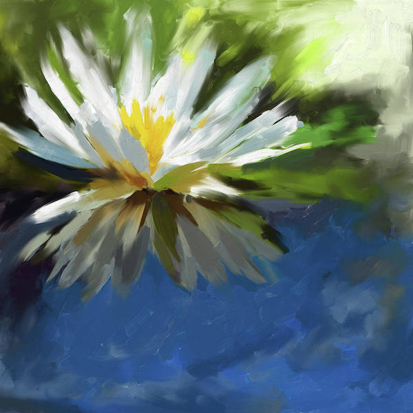 Wall Art - Painting - Painting 375 1 Water Lily 1 by Mawra Tahreem