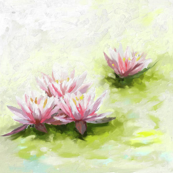 Wall Art - Painting - Painting 378 1 Lilies by Mawra Tahreem