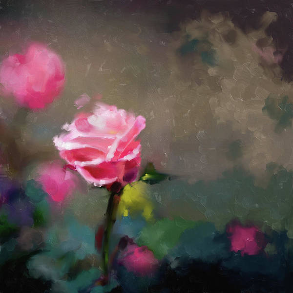 Wall Art - Painting - Painting 381 1 Pink Rose by Mawra Tahreem