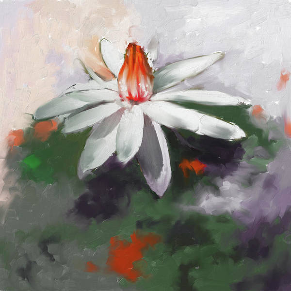 Wall Art - Painting - Painting 383 2 Water Lily 2 by Mawra Tahreem