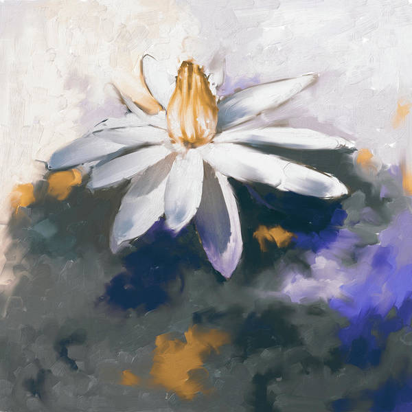 Wall Art - Painting - Painting 383 3 Water Lily 2 by Mawra Tahreem