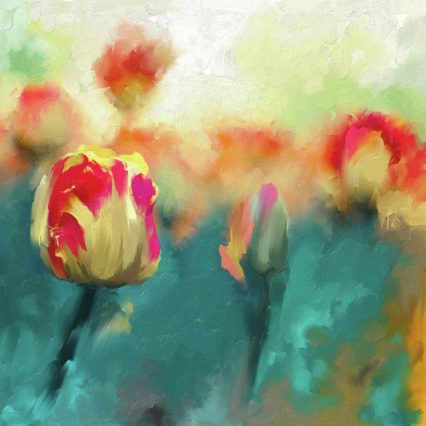 Wall Art - Painting - Painting 385 1 Pink Tulip 1 by Mawra Tahreem