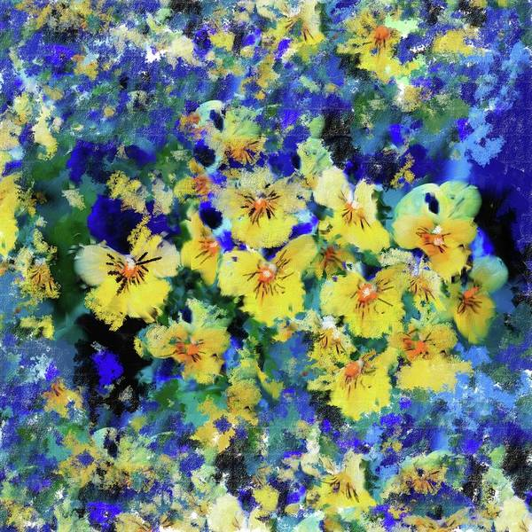 Wall Art - Painting - Painting 388 1 Pansies by Mawra Tahreem