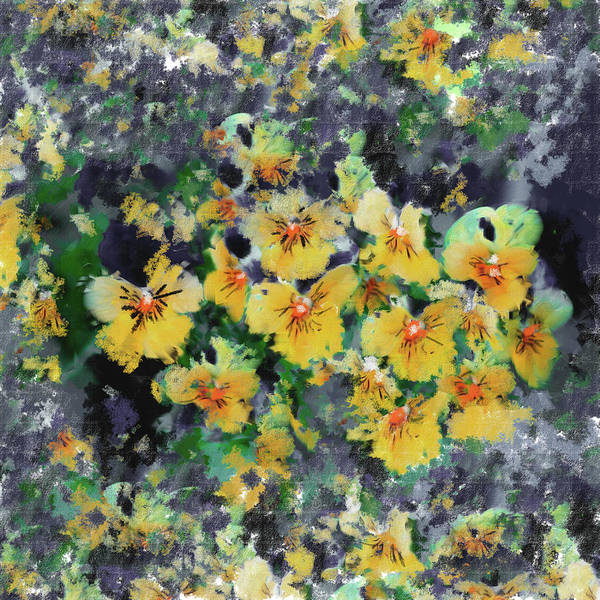 Wall Art - Painting - Painting 388 2 Pansies by Mawra Tahreem