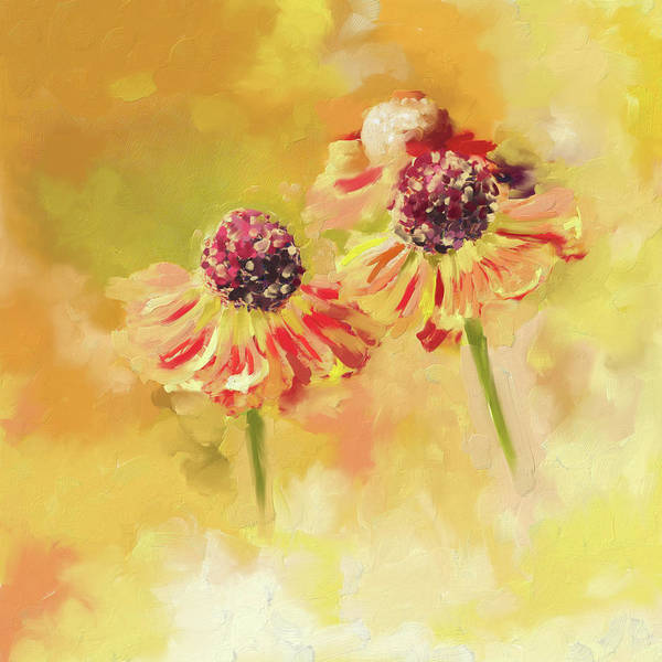 Wall Art - Painting - Painting 390 1 Twin Flowers by Mawra Tahreem