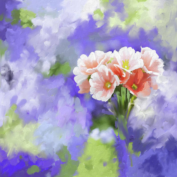 Wall Art - Painting - Painting 391 1 Pink Bouquet by Mawra Tahreem