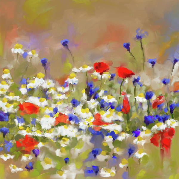 Wall Art - Painting - Painting 639 1 Texas Wildflowers 2 by Mawra Tahreem