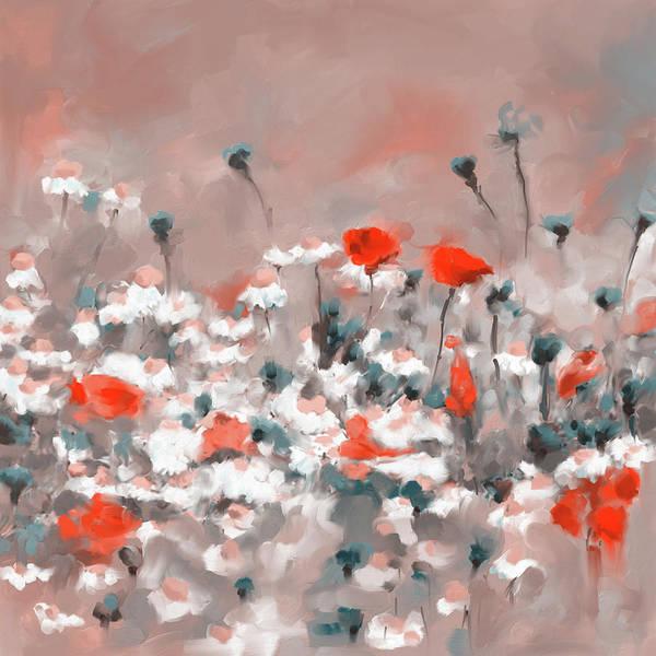 Wall Art - Painting - Painting 639 3 Texas Wildflowers 2 by Mawra Tahreem