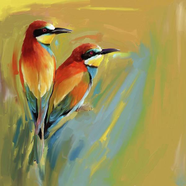 Phoenix Painting - Painting 662 1 Bird 9 by Mawra Tahreem