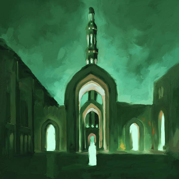 Wall Art - Painting - Painting 684 3 Grand Mosque by Mawra Tahreem