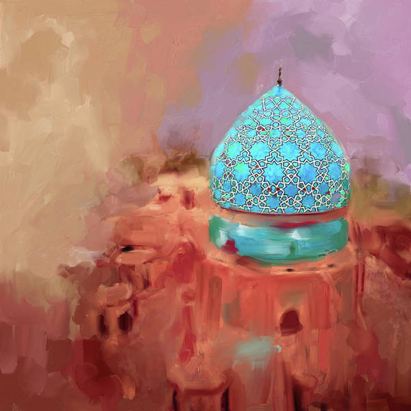 Wall Art - Painting - Painting 685 1 Blue Dome by Mawra Tahreem
