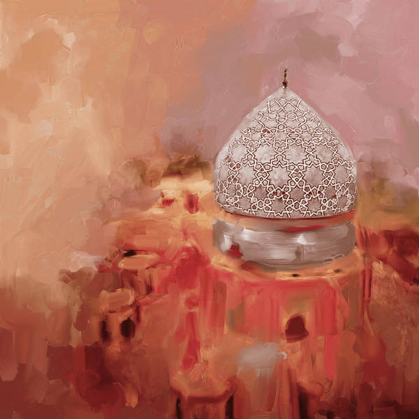 Wall Art - Painting - Painting 685 2 Blue Dome by Mawra Tahreem