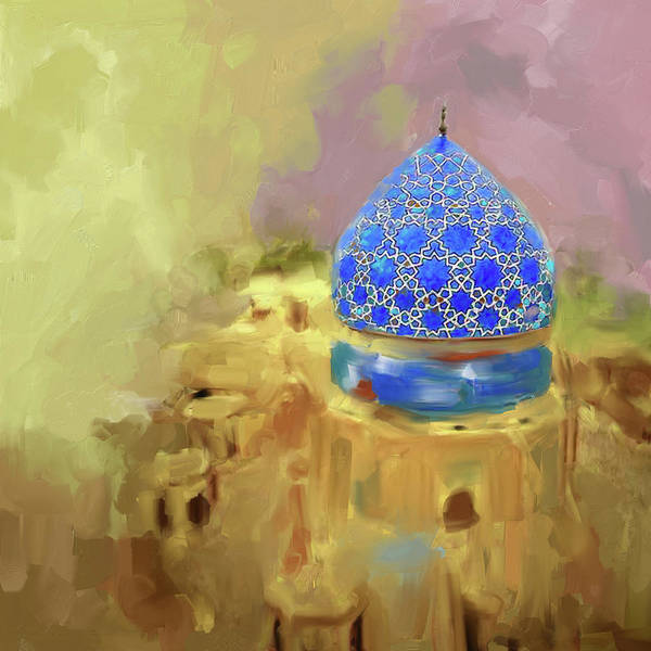 Wall Art - Painting - Painting 685 3 Blue Dome by Mawra Tahreem