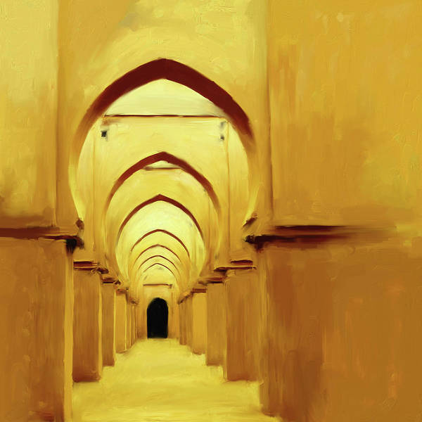 Wall Art - Painting - Painting 686 1 Tinmel Mosque by Mawra Tahreem