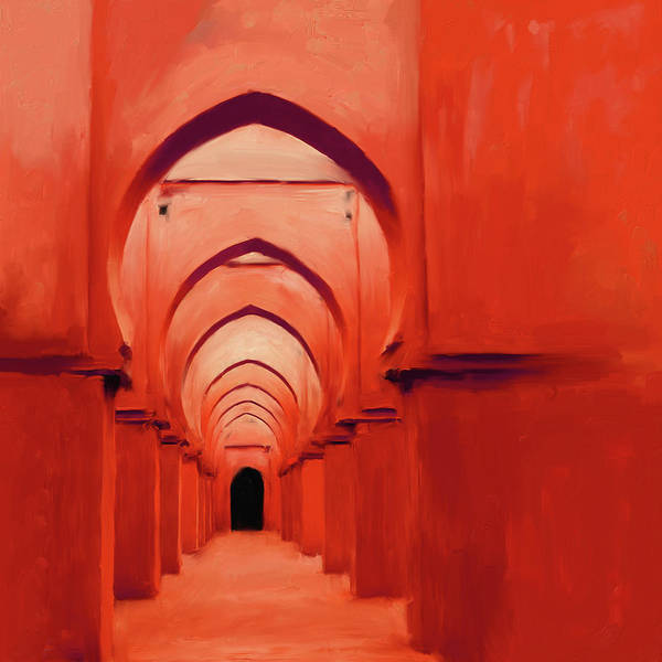 Wall Art - Painting - Painting 686 3 Tinmel Mosque by Mawra Tahreem