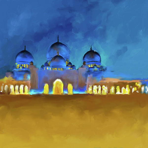 Wall Art - Painting - Painting 687 1 Sheikh Al Zaid Mosque by Mawra Tahreem