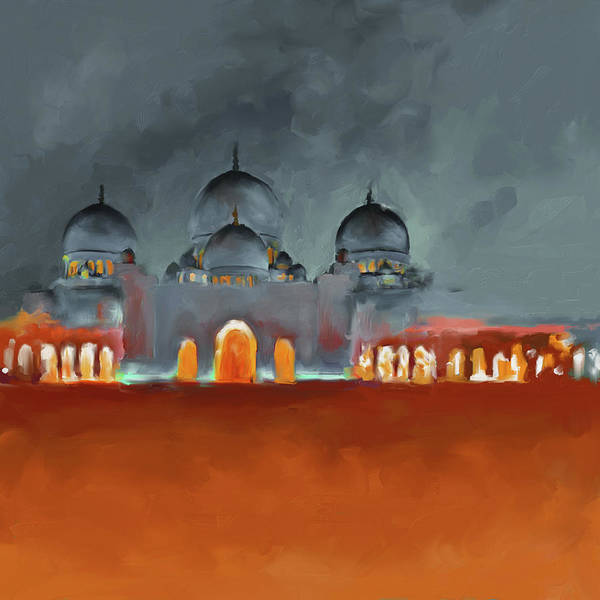 Wall Art - Painting - Painting 687 2 Sheikh Al Zaid Mosque by Mawra Tahreem