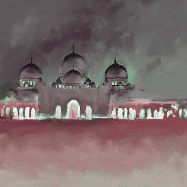 Wall Art - Painting - Painting 687 3 Sheikh Al Zaid Mosque by Mawra Tahreem