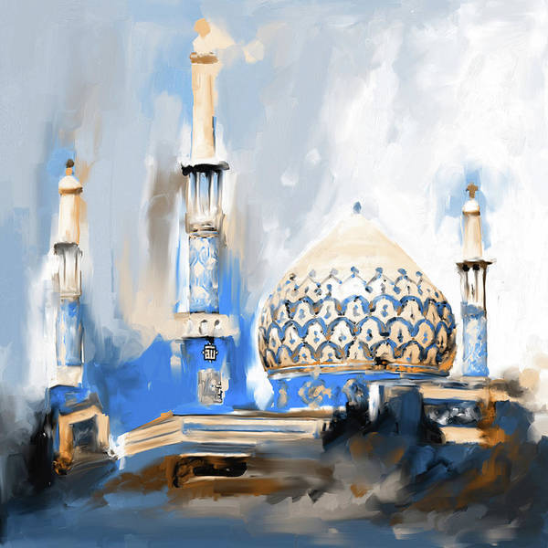 Wall Art - Painting - Painting 688 3 Bahman Mosque by Mawra Tahreem