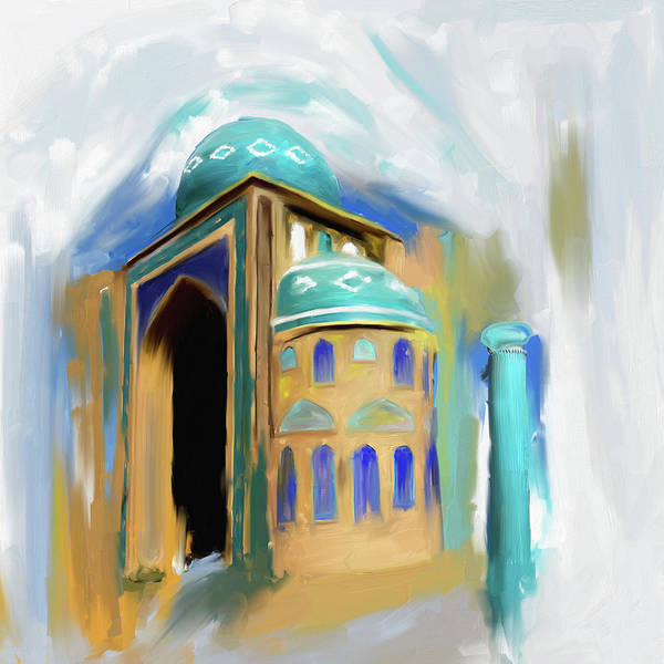 Wall Art - Painting - Painting 689 1 Jalil Khyat Mosque by Mawra Tahreem