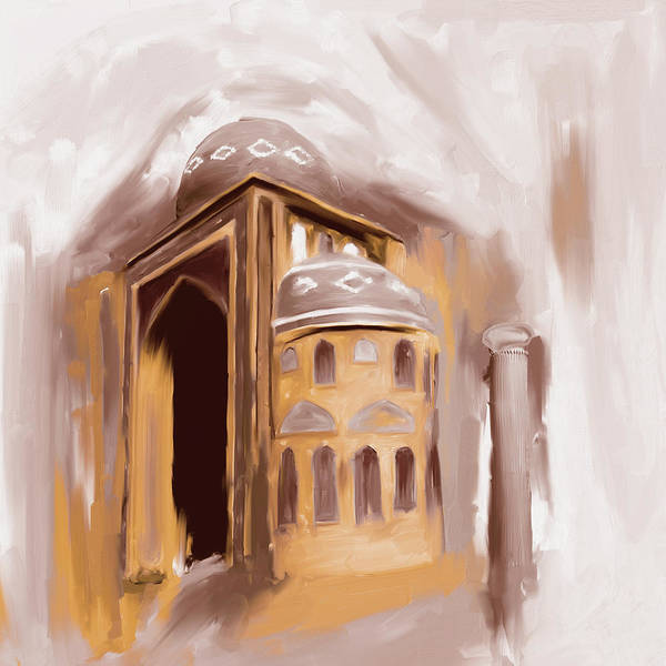 Wall Art - Painting - Painting 689 2 Jalil Khyat Mosque by Mawra Tahreem