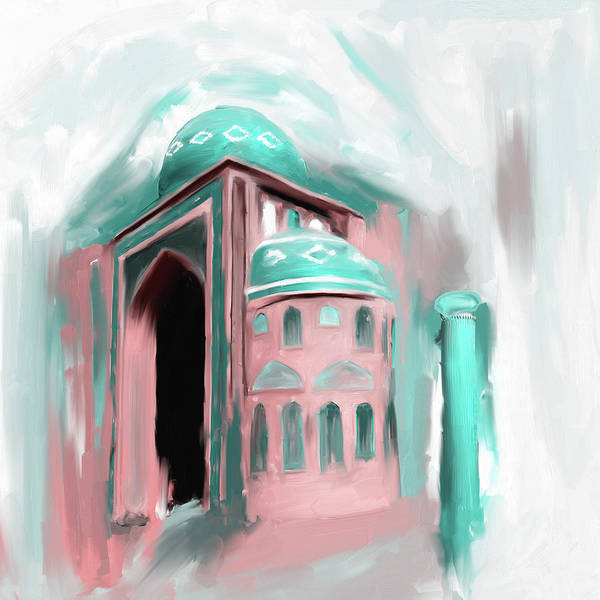Wall Art - Painting - Painting 689 3 Jalil Khyat Mosque by Mawra Tahreem