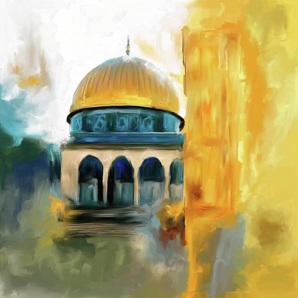 Wall Art - Painting - Painting 691 1 Masjid-al-aqsa by Mawra Tahreem