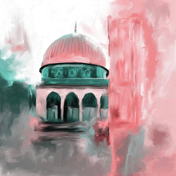 Wall Art - Painting - Painting 691 2 Masjid Al Aqsa by Mawra Tahreem