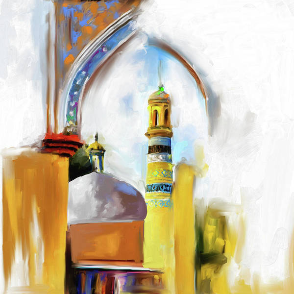 Wall Art - Painting - Painting 692 1 Id Kah Mosque by Mawra Tahreem