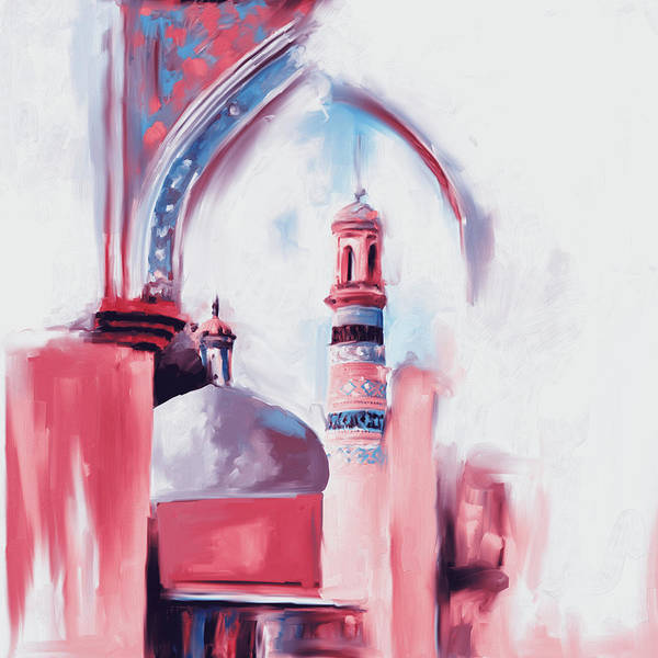 Wall Art - Painting - Painting 692 2 Id Kah Mosque by Mawra Tahreem