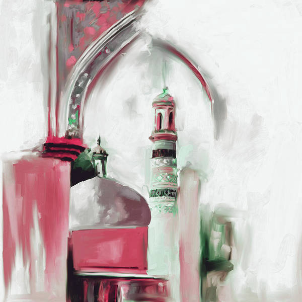 Wall Art - Painting - Painting 692 3 Id Kah Mosque by Mawra Tahreem