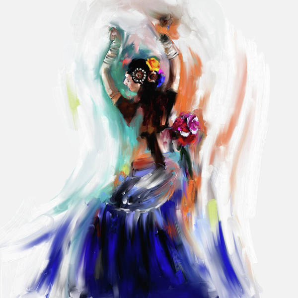 Belly Dance Painting - Painting 696 1 Dancer 1 by Mawra Tahreem