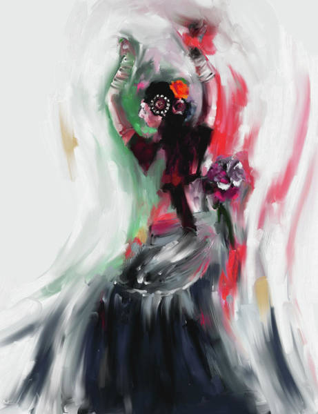 Belly Dance Painting - Painting 696 3 Dancer 1 by Mawra Tahreem