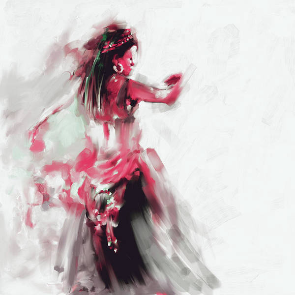 Belly Dance Painting - Painting 697 2 Dancer 2 by Mawra Tahreem