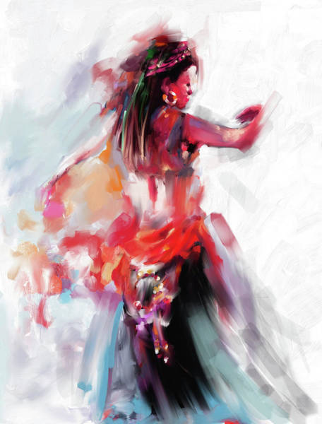 Belly Dance Painting - Painting 697 3 Dancer 2 by Mawra Tahreem