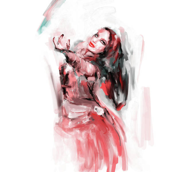 Belly Dance Painting - Painting 698 2 Dancer 3 by Mawra Tahreem