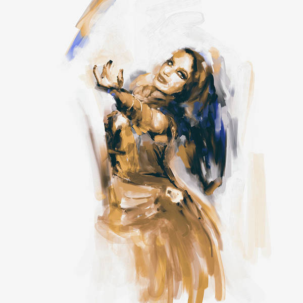 Belly Dance Painting - Painting 698 3 Dancer 3 by Mawra Tahreem