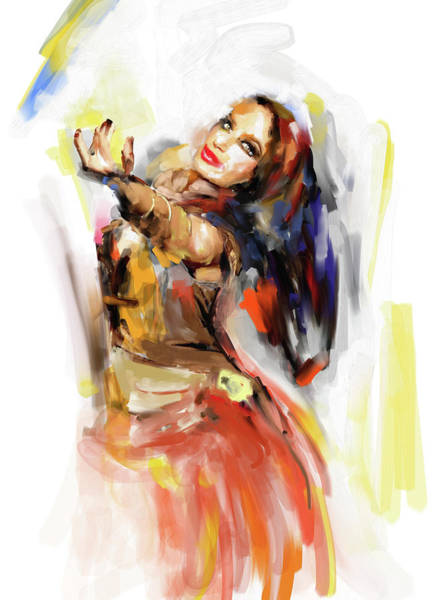 Belly Dance Painting - Painting 698 4 Dancer 3 by Mawra Tahreem