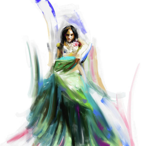 Belly Dance Painting - Painting 699 1 Dancer 4 by Mawra Tahreem