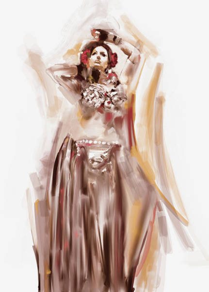 Belly Dance Painting - Painting 700 3 Dancer 5 by Mawra Tahreem