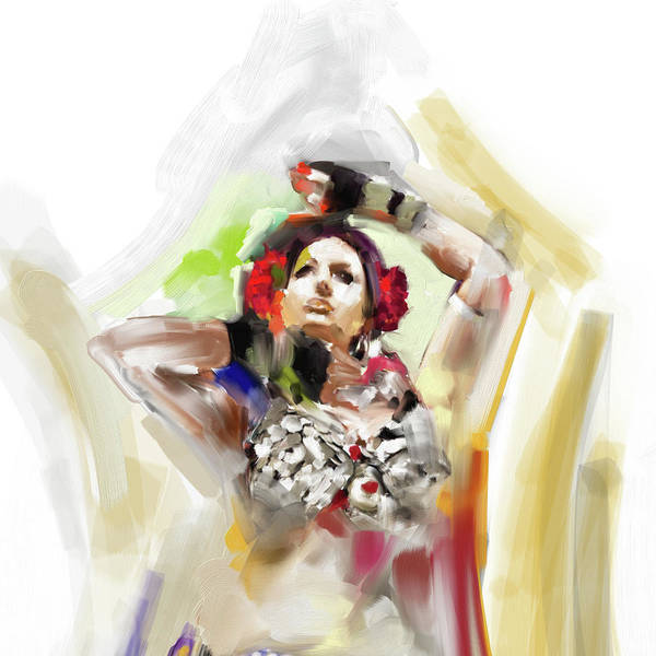 Belly Dance Painting - Painting 700 4 Dancer 5 by Mawra Tahreem