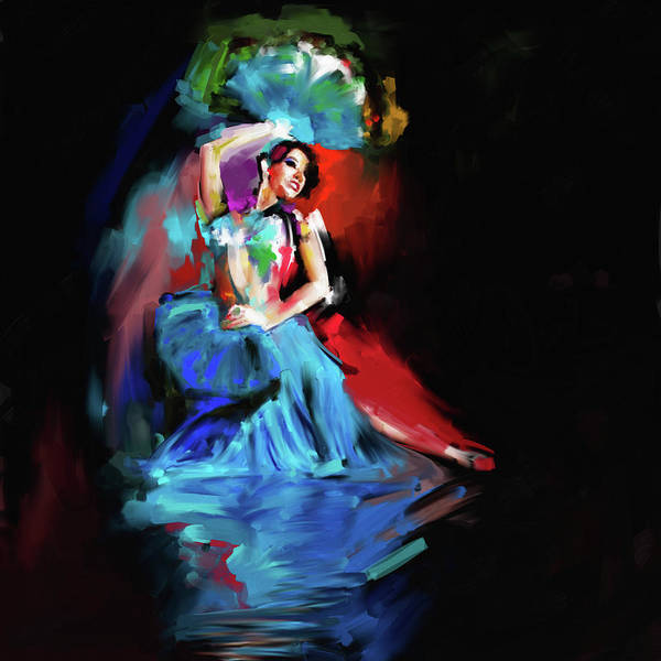 Belly Dance Painting - Painting 701 Dancer 6 by Mawra Tahreem